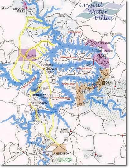 Lake Of The Ozarks Mile Markers Map : ozarks, markers, Ozarks, World, Atlas
