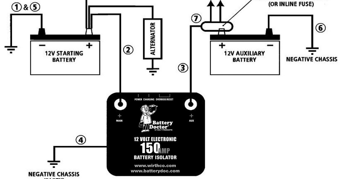 Dual Battery System Wiring Diagram Schematic Show The