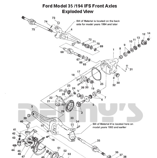 1994 Ford Ranger Front Axle Diagram