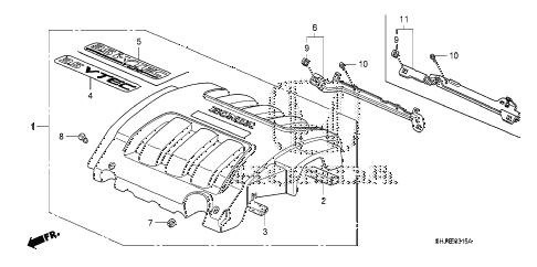 Honda Odyssey 2005 Engine Diagram