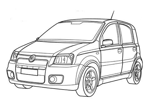 Fiat 500 Abarth: Fiat 500 Abarth Da Colorare