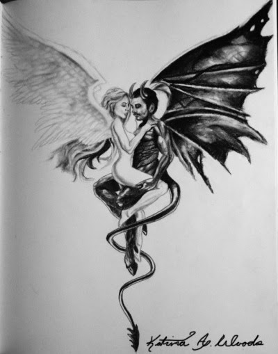 Realistic Devil Drawing : realistic, devil, drawing, Latest, Sketch, Angel, Devil, Drawing, Campbells, Possibilities