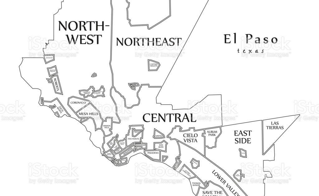 El Paso Neighborhood Map
