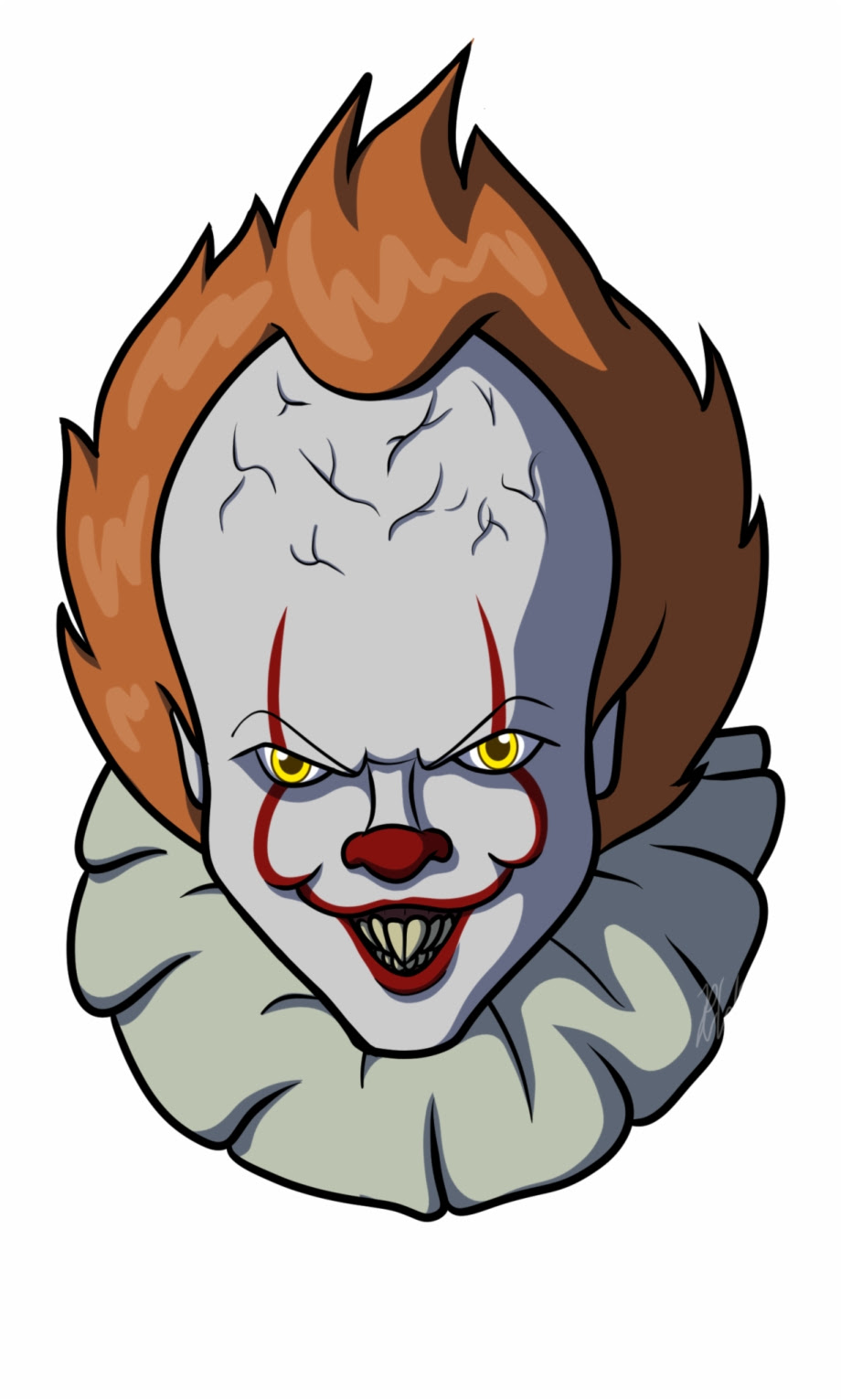 How To Draw Pennywise Face : pennywise, Drawing, Easy:, Pennywise