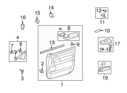 Wiring Diagram: 33 Toyota Tundra Interior Parts Diagram
