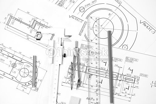 Technical Drawing Instruments Diagram