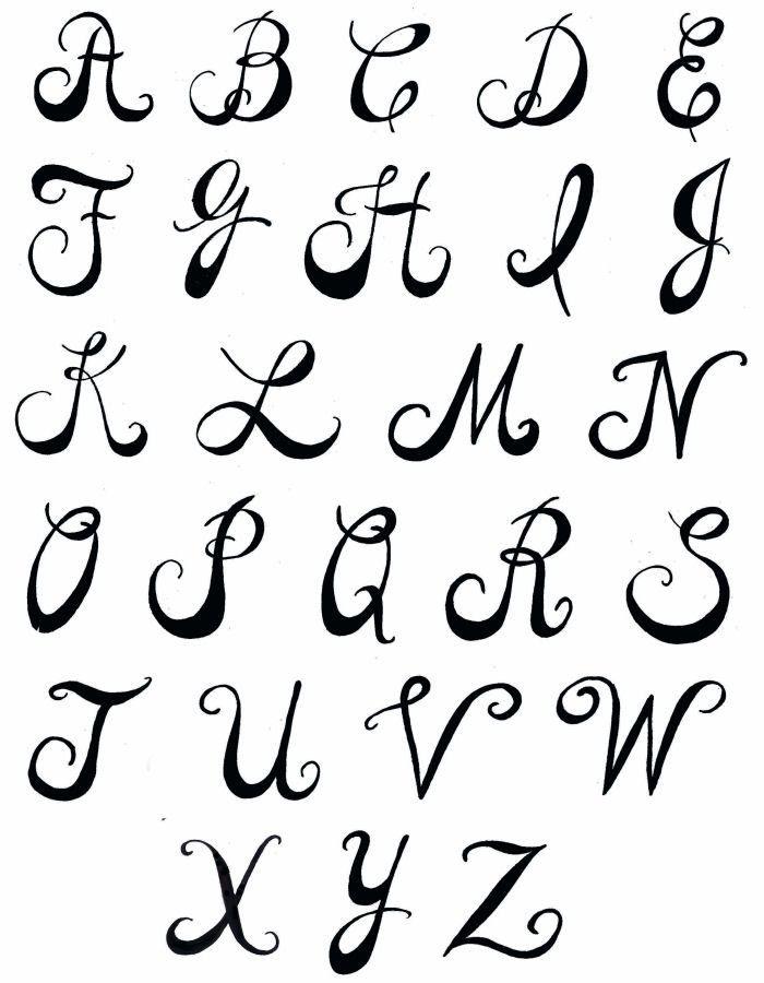 Easy Fancy Letters : fancy, letters, Tattoo, Lettering, Tattoos, Gallery