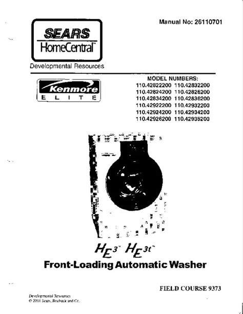 Free Reading Kenmore Elite He3 Dryer Manual Tutorial Free