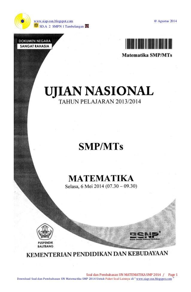 Soal Un Smp 2016/2017 : 2016/2017, Bahasa, Indonesia, Kunci, Jawaban, Galeri