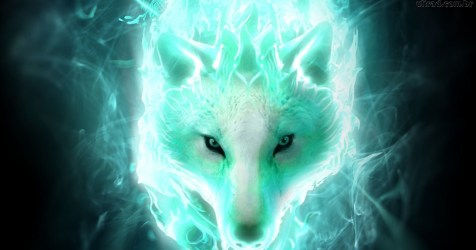 Blue Flame Mystical Galaxy Wolf Wallpaper Images Slike