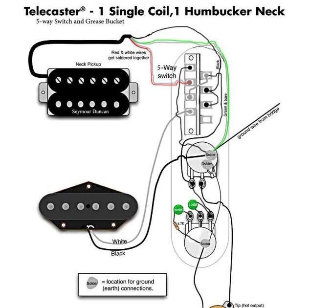 Tele Wiring Diagram 5 Way Switch / Diagram Dimarzio Pick