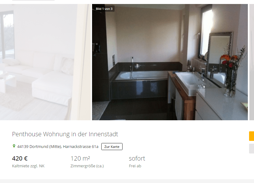wohnungsbetrugblogspotcom Penthouse Wohnung in der