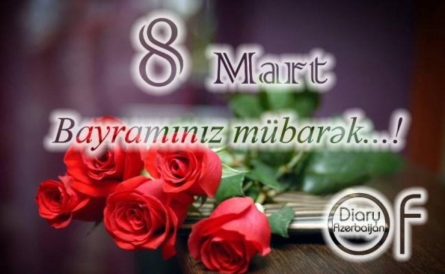 8 Mart Qadinlar Bayraminiz Mubarek Cute766