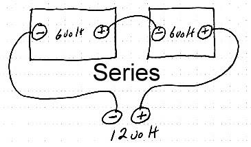 أنظمة الطاقة الشمسية: Series & Parallel Wiring batteries
