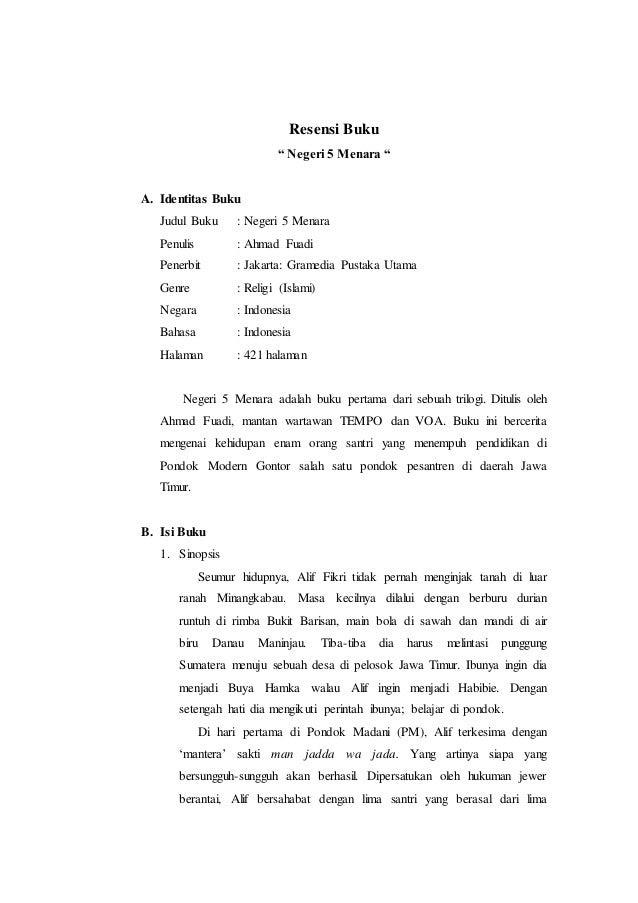 Contoh Resensi Buku Lengkap : contoh, resensi, lengkap, Contoh, Resensi, Novel