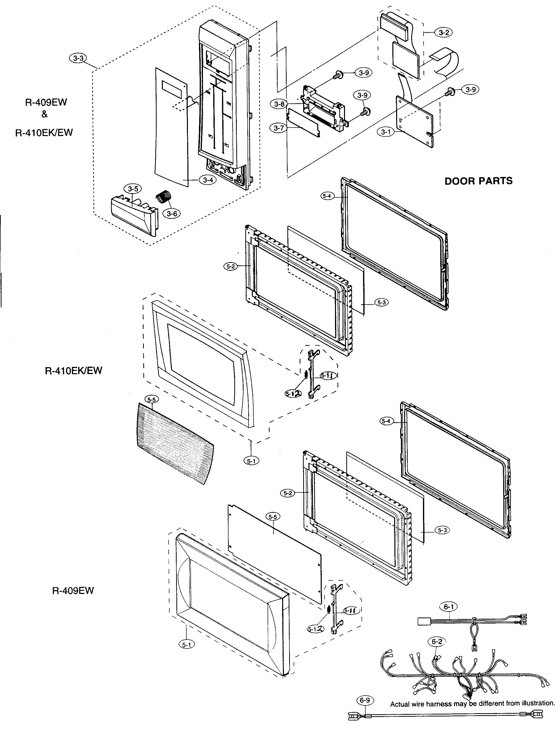 Refrigerators Parts: Sharp Microwave Parts