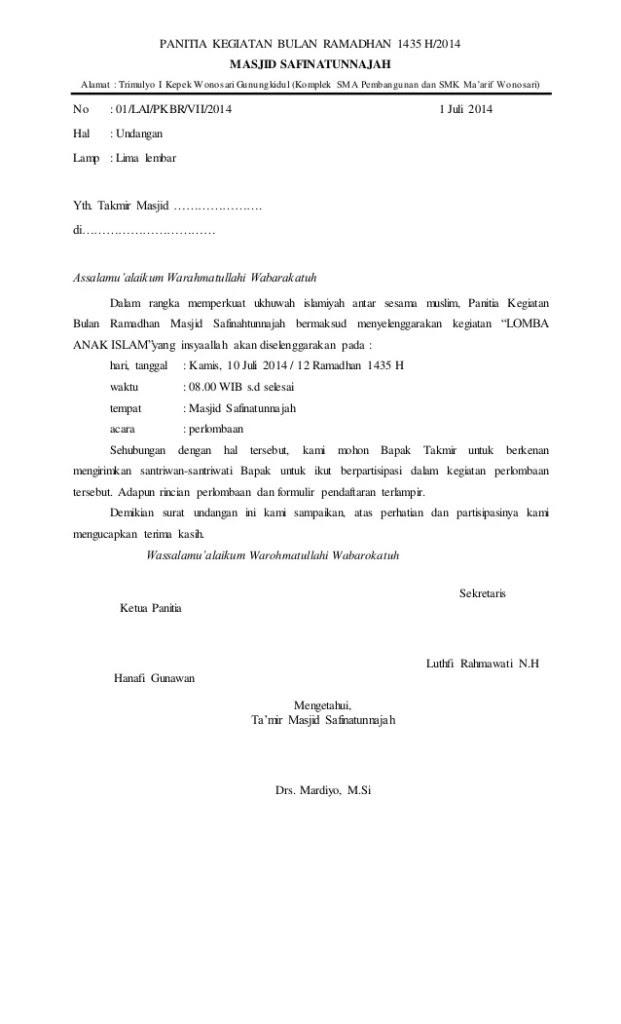 Surat Permohonan Juri : surat, permohonan, Contoh, Surat, Permohonan, Menjadi
