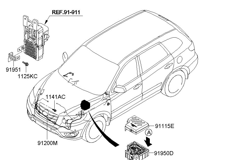 Wiring Diagram Hyundai Santum Fe 2004 / 2007 Hyundai