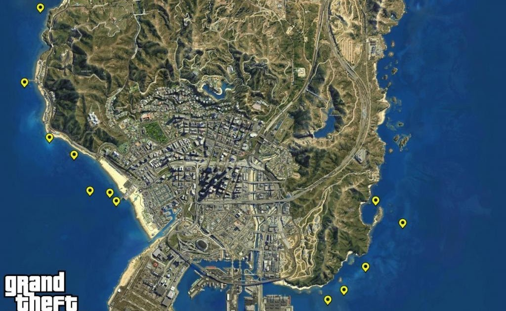 Gta 5 Map With All Street Names