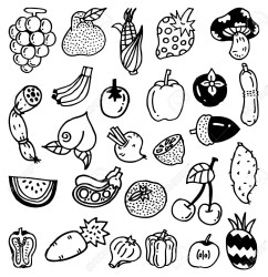 Clipart Images Of Fruits Black And White George s Blog