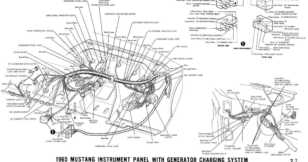 1967 Mustang Alternator Wiring Diagram : With Alternator