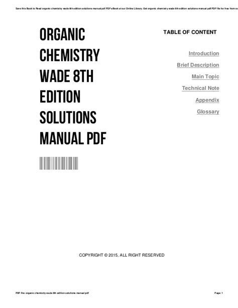 Download organic-chemistry-wade-8th-edition-solutions