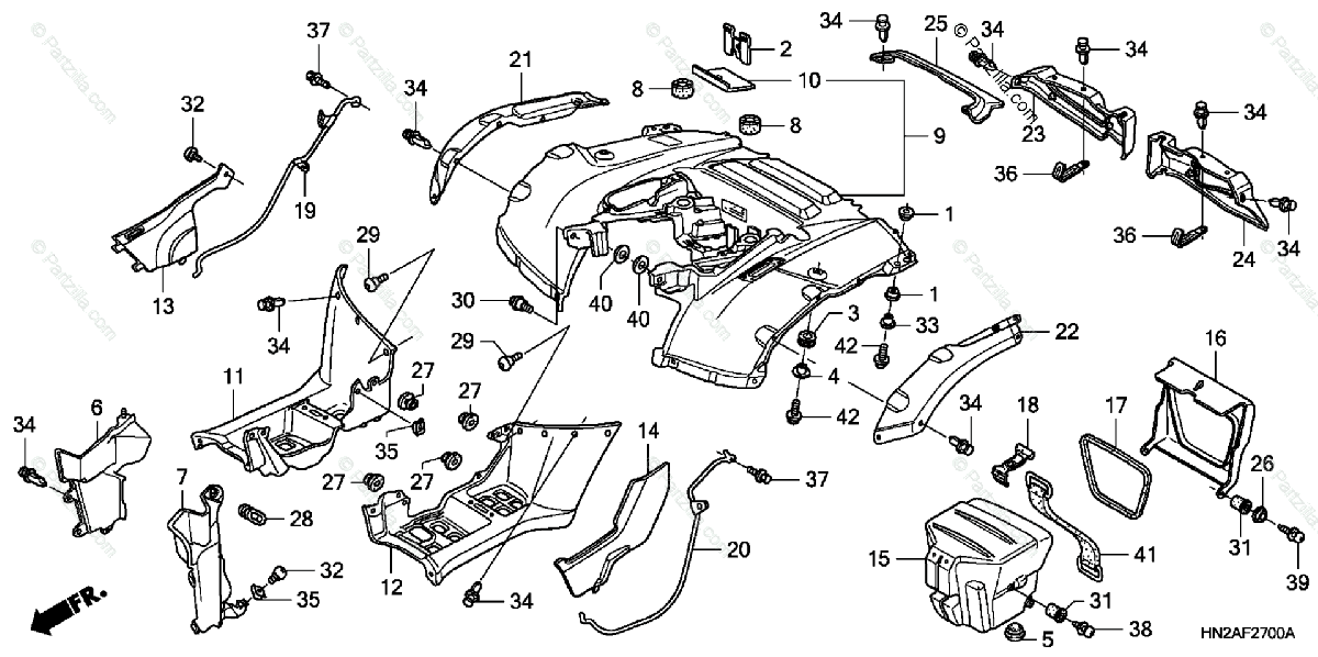 Wiring Diagram: 35 Honda Rubicon Parts Diagram