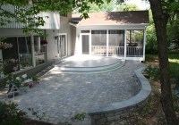 Decks in Montgomery County Maryland: Round Deck, Paver