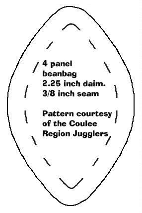 Sewing Pattern Bean Bags