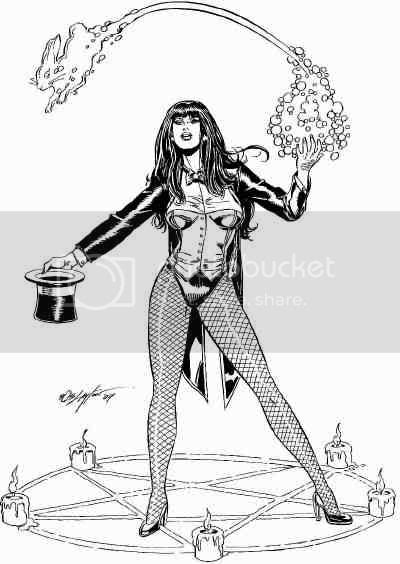 Justice League Detroit: Zatanna Single Figure Art by Bob