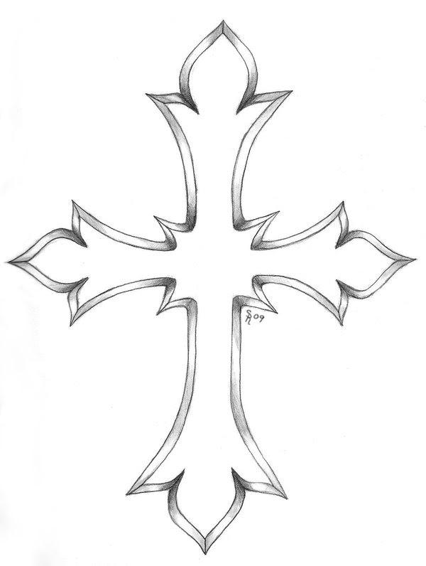 Cross Tattoo Outline : cross, tattoo, outline, Cross, Outline, Tattoo, Designs