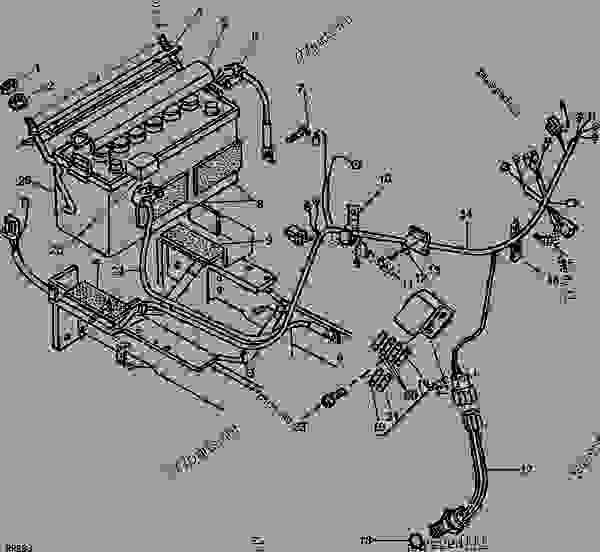 Wiring Diagram: 35 John Deere 1050 Parts Diagram