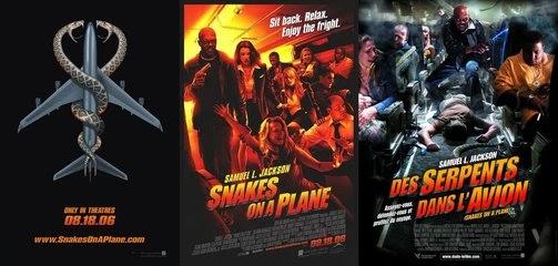 Blog on Cinema: 《飛機上有蛇》海報三款