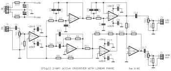 Electronic Schematic Diagram: 2-Way Active Crossover Circuit