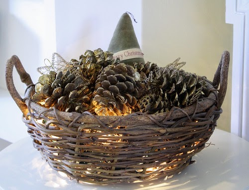 Sweet Little Smoothie Twinkling Pinecone Basket