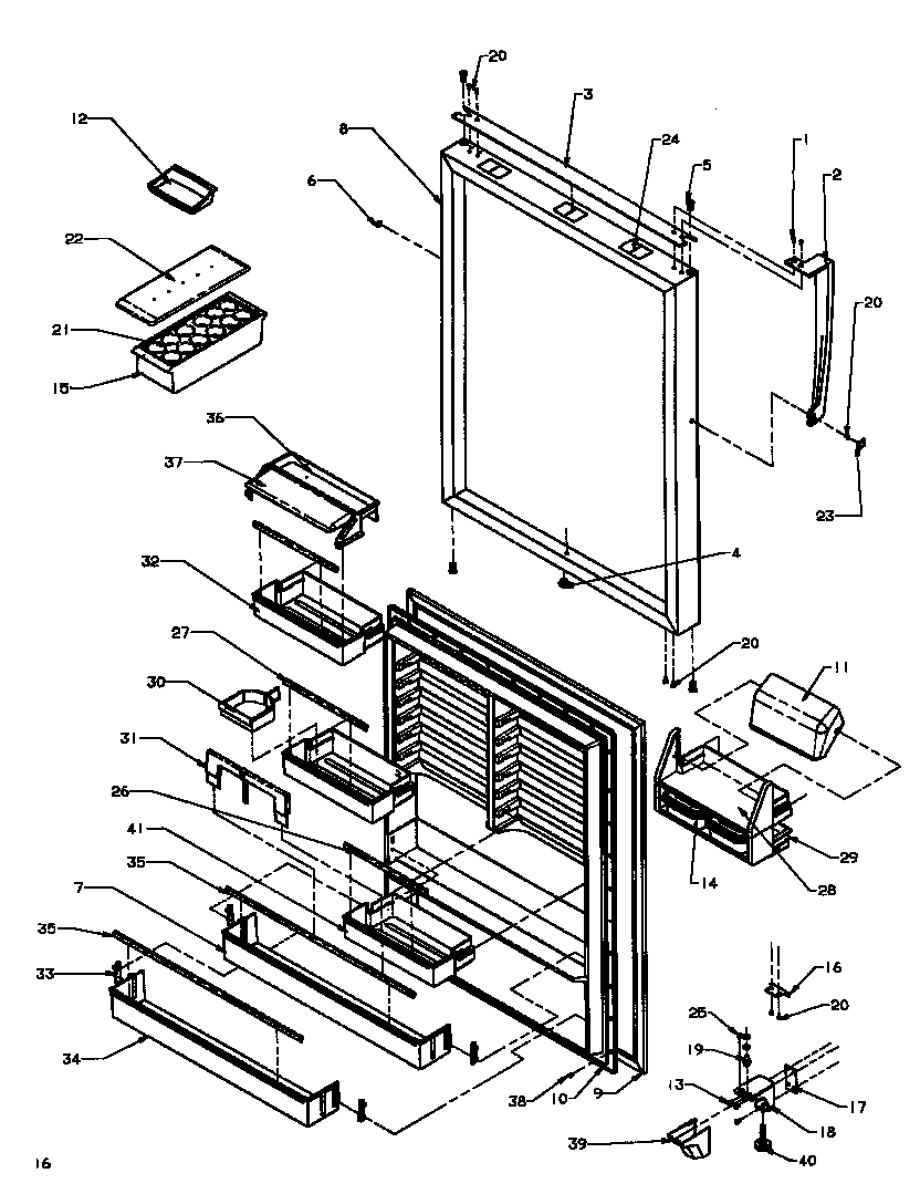 Wiring Diagram: 34 Amana Refrigerator Parts Diagram