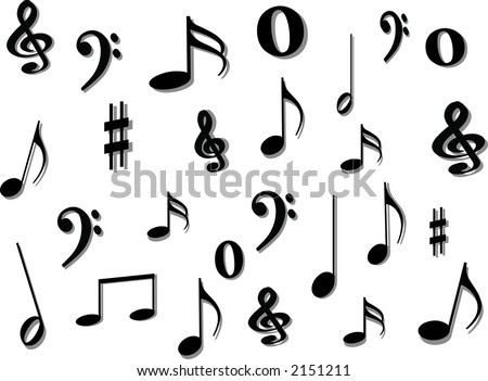 conorux: musical notes background