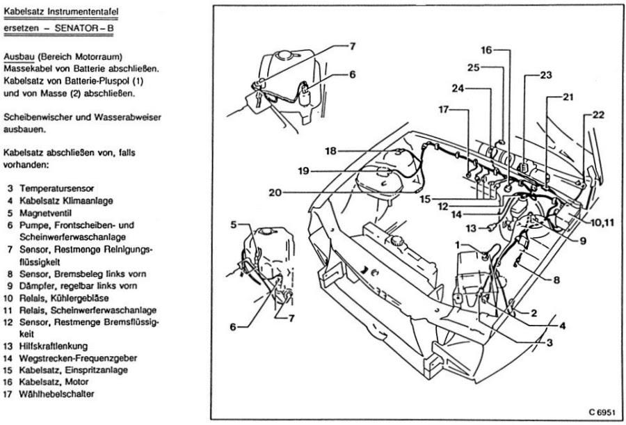 Schaltplan Sitzheizung Opel Omega B