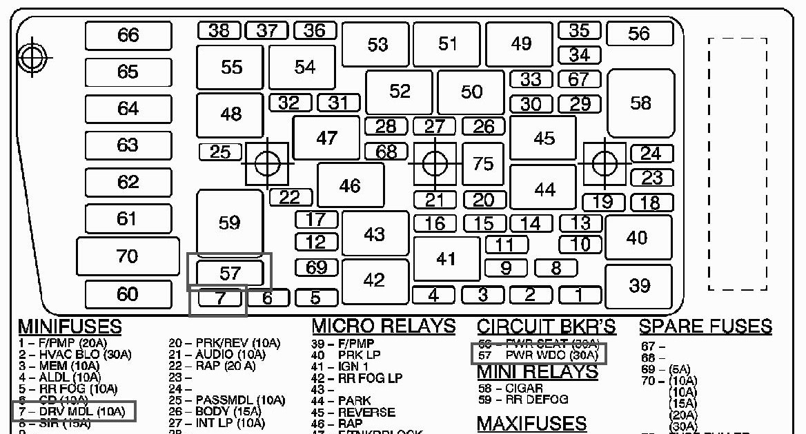 [DIAGRAM] 1997 Buick Lesabre Limited Fuse Box Diagram FULL
