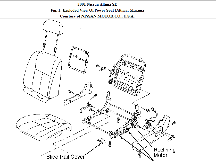 schematics and diagrams: how to replace front power seat