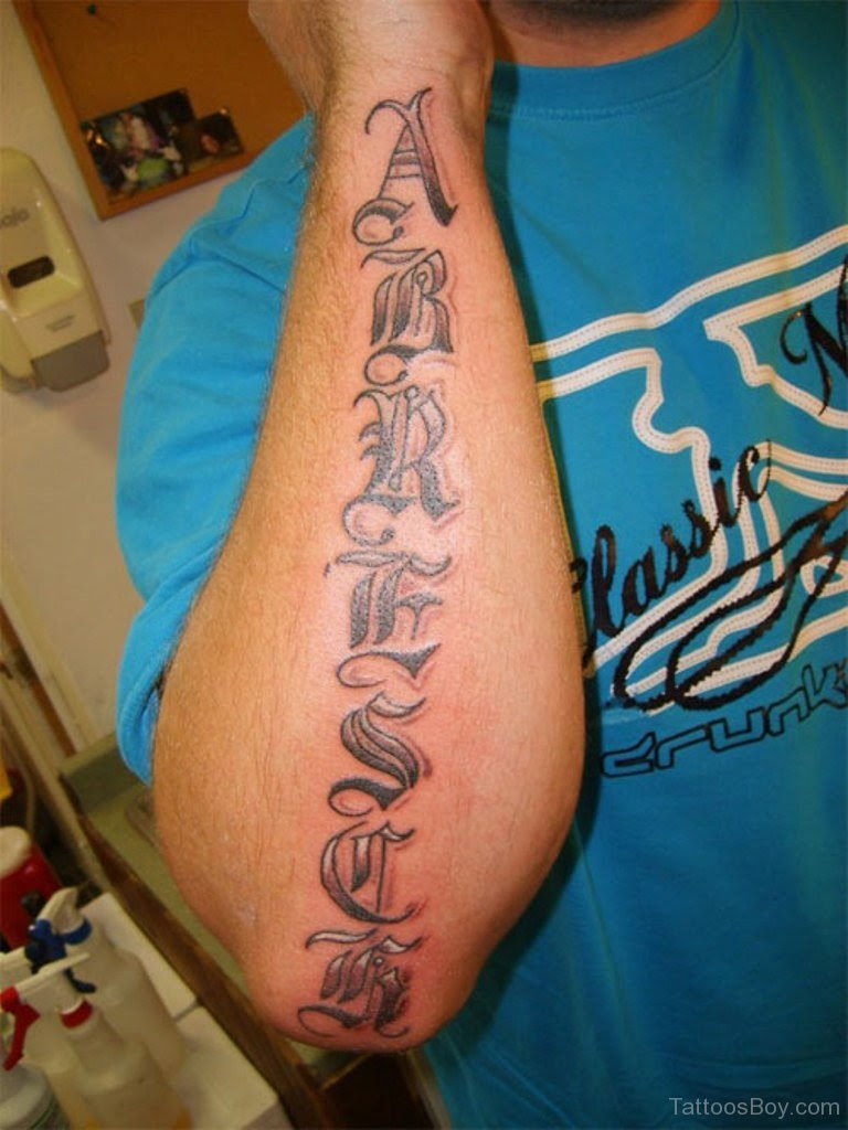 Old English Tattoos : english, tattoos, English, Tattoo, Lettering, Fonts, Tattoos, Gallery