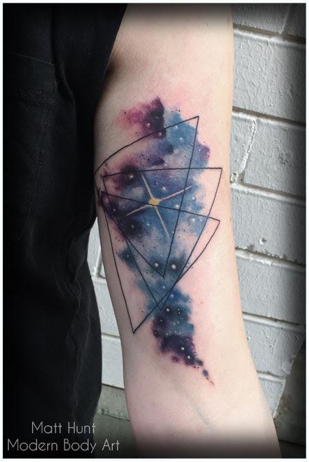 Geometric Space Tattoo : geometric, space, tattoo, Geometric, Space, Tattoos, Simple, Gallery