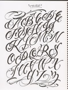 Chicano Lettering : chicano, lettering, Chicano, Cursive, Alphabet