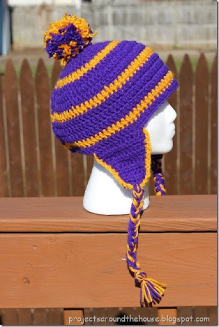 Crochet Men\'s Striped Earflap Hat Pattern - Renewed Claimed Path