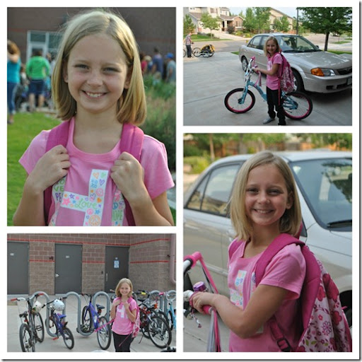Halle first day of 3rd grade