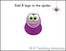 Play Dough Mats- Spider
