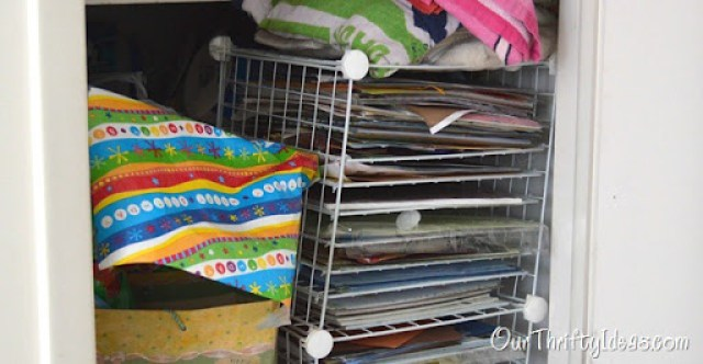 Our Thrifty Ideas- Paper Organization Ideas