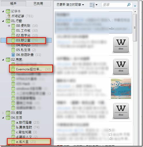 兩張圖解釋 Evernote 的 完全記憶 與 專案管理筆記 方法