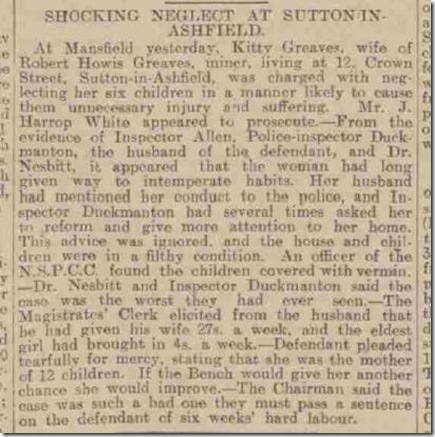 Sheffield Daily Telepgraph Kitty Greaves