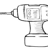 HAND DRILL COLORING PAGES